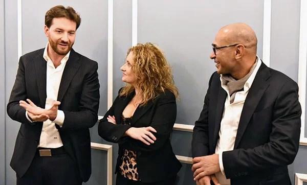 Vincenzo Damiano, Angela Merolla e Shehta Abdel Salam, foto di Raffaele Nocera