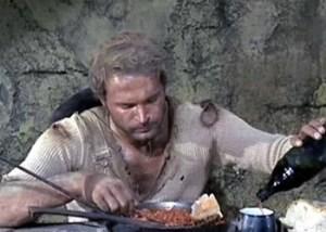 Terence Hill con i fagioli