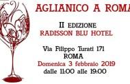 Domenica 3 febbraio torna Aglianico a Roma, al Radisson Blu Hotel