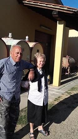 Tiberio Nocentini e la Signora Giuliana