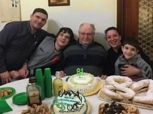Da sx Giuseppe, Antonio, nonno Antonio, Giusy e Luciano