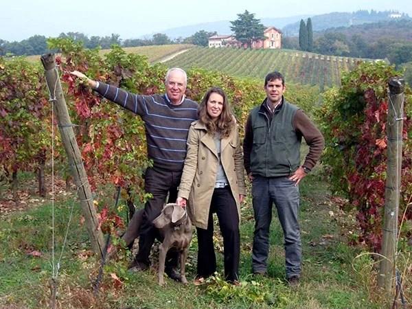 Emilio Pasqua Di Bisceglie con la figlia Maddalena e il nipote Enrico Raber