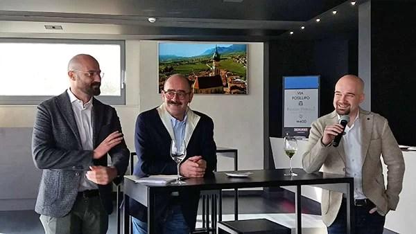Da sinistra: Eduard Bernhart, Andrea Moser e Franziskus Haas