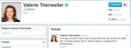 Tweet de Valérie Trierweiler