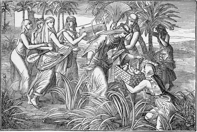 Pharaoh's Daughter Finding Moses Exodus 2:5-6
