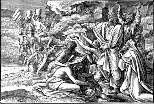 Moses Bringing Water from a Rock Exodus 17:6