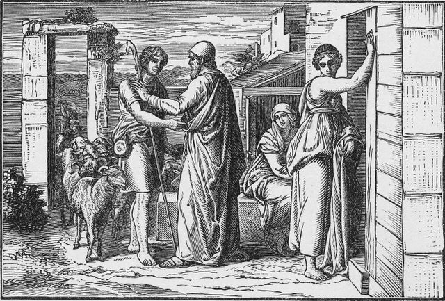 Laban hires Jacob Genesis 29:18-19
