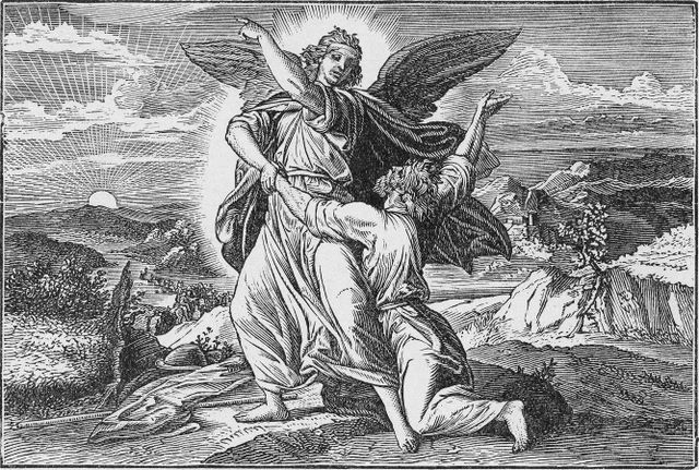 Jacob wrestles with an angel Gensis 32:24