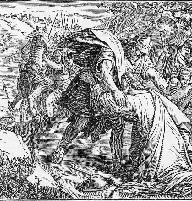 The meeting of Jacob and Esau Genssi 33:3-4