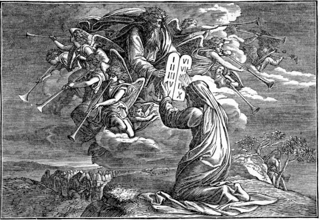 Moses Receiving the Law Exodus 31:18