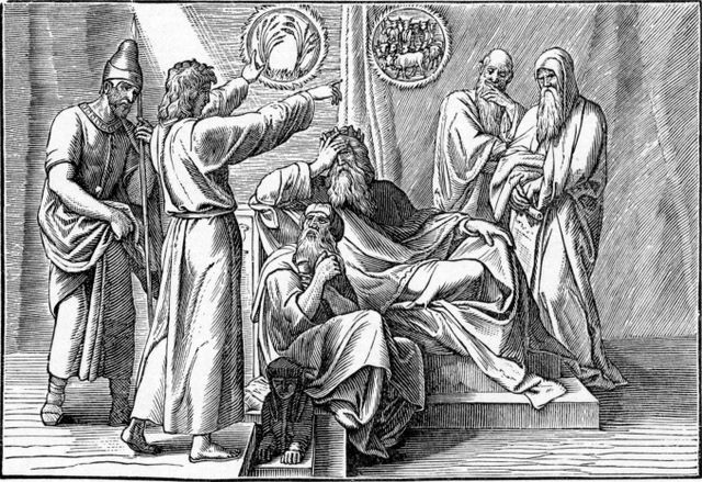 Joseph interpreting Pharaoh's dream Genesis 41:29-30