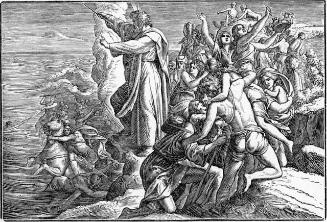Pharaoh's army Destroyed in the Red Sea Exodus 14:30-31