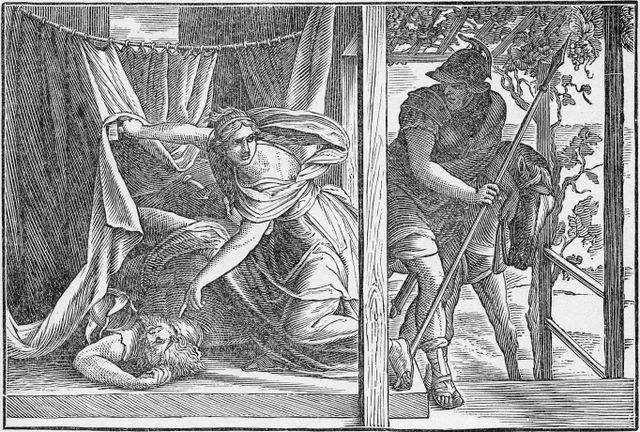Sisera Slain by Jael Judges 4:22