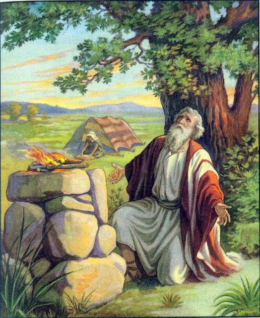 As Abram journeyed he built altars to God Genesis 12:7-8