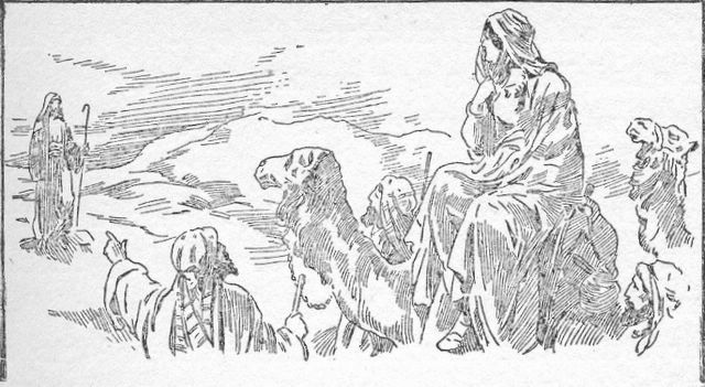 Rebekah meets Isaac Genesis 24:64