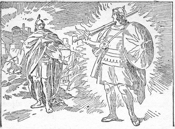 Joshua sees a man by Jericho Joshua 5:13