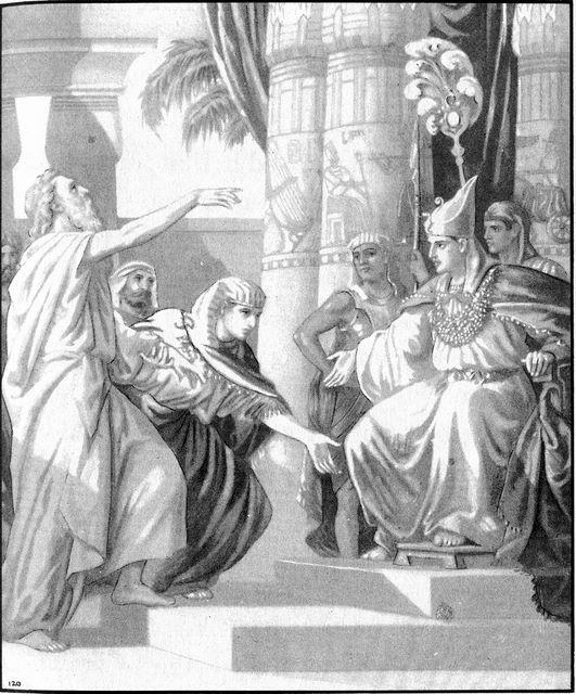 Jacob is presented by Joseph to Pharoah Genesis 47:7