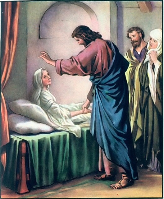 Peter's mother-in-law was healed Matthew 8:14-15
