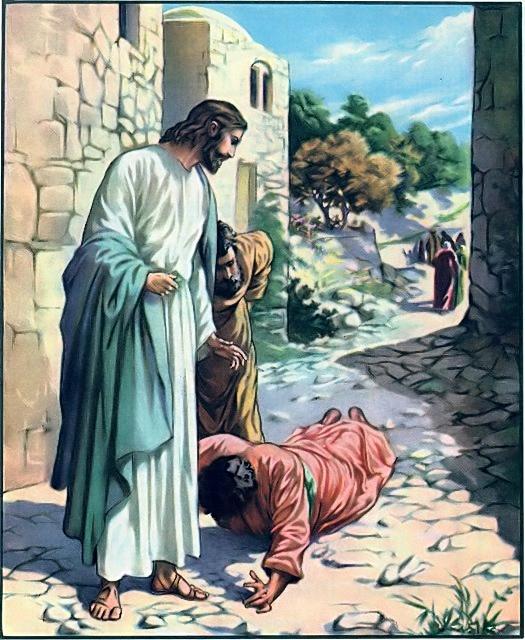 One former leper returns to thank Jesus Luke 17:14-19