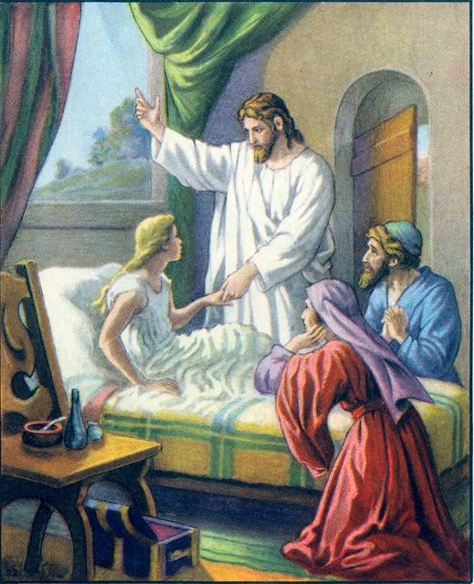 The Ruler's Daughter is Raised Matthew 9:25
