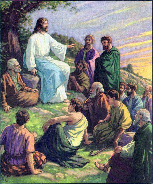 Jesus teaches the people Mark 1:14