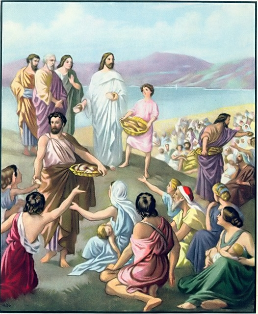 The disciples distributed the loves and fish John 6:11