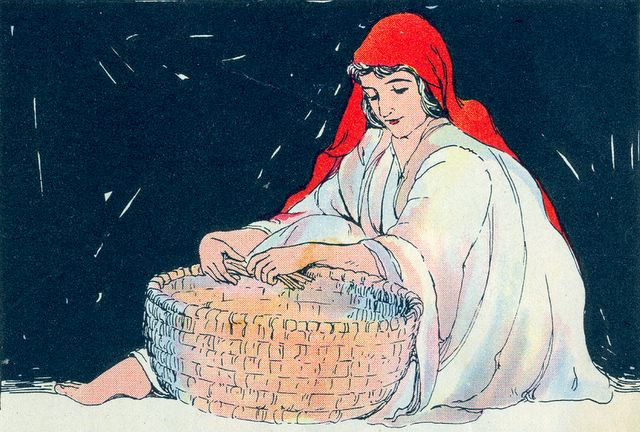 Jocabed Makes a Basket to Hide Moses Exodus 2:3