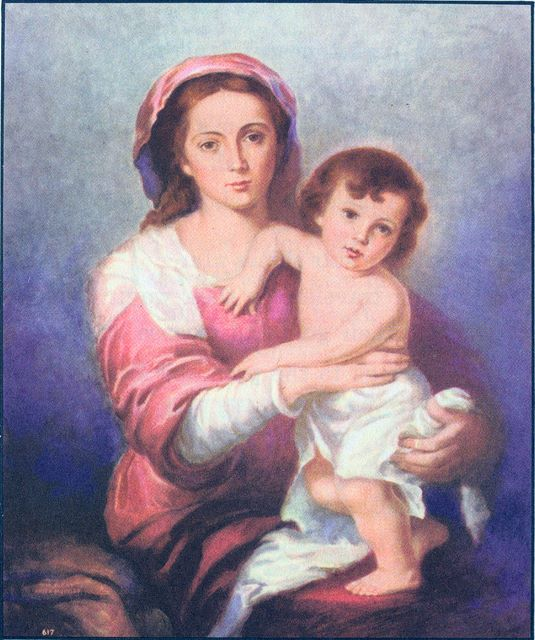 Mary and Jesus as a child Matthew 2:11