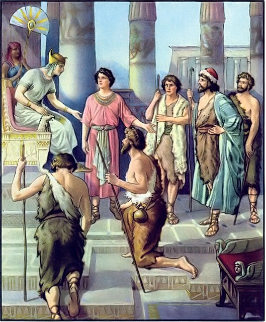 Joseph's brothers come to ask for grain Genesis 42:5-8