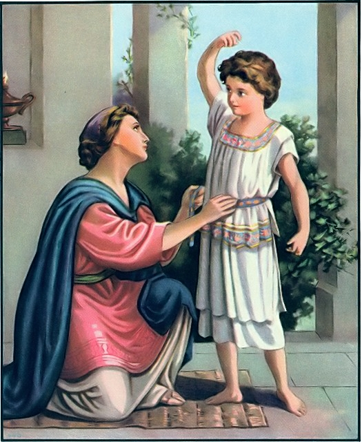 Samuel's mother brought him new clothes each year I Samuel 2:19