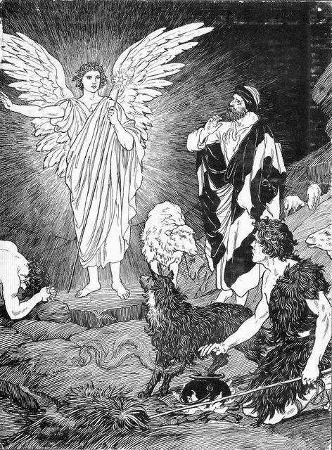 Angel Announcing the Birth of Jesus Luke 2:9