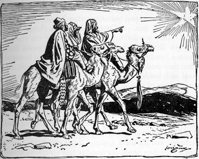Wise Men Following the Star (Matthew 2:2)