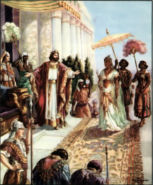 The Queen of Sheba visits Solomon I Kings 10:1