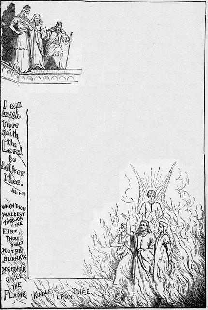 Sadrach, Meshack, and Abendego in the furnace Daniel 3:24-25