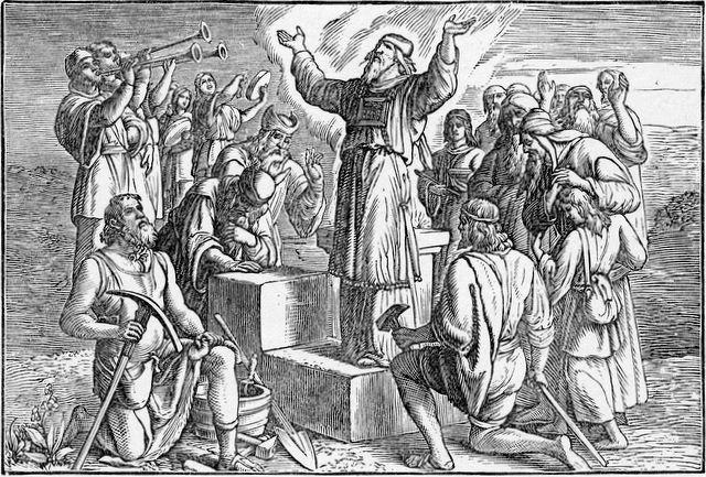 Building the new temple Ezra 3:10
