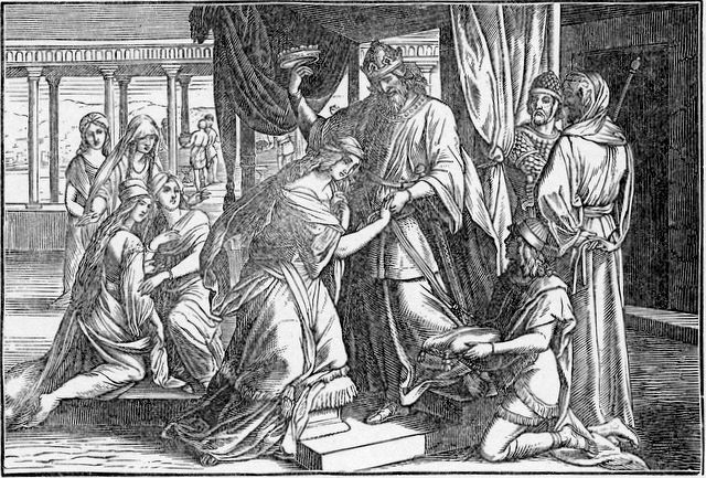 Esther made queen Esther 2:17