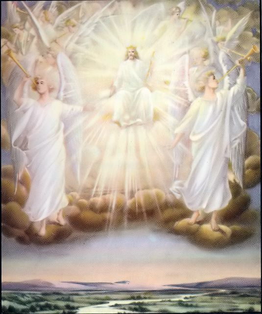 The Son of God on his throne with his angels Matthew 25:31