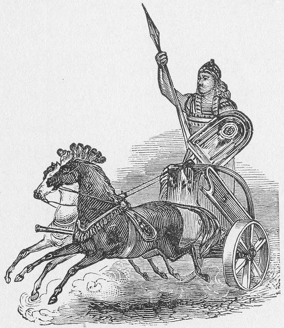 Jehu rode in a chariot II KIngs 9:16