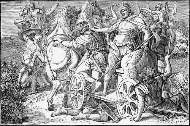 The death of King Ahab I Kings 22:34