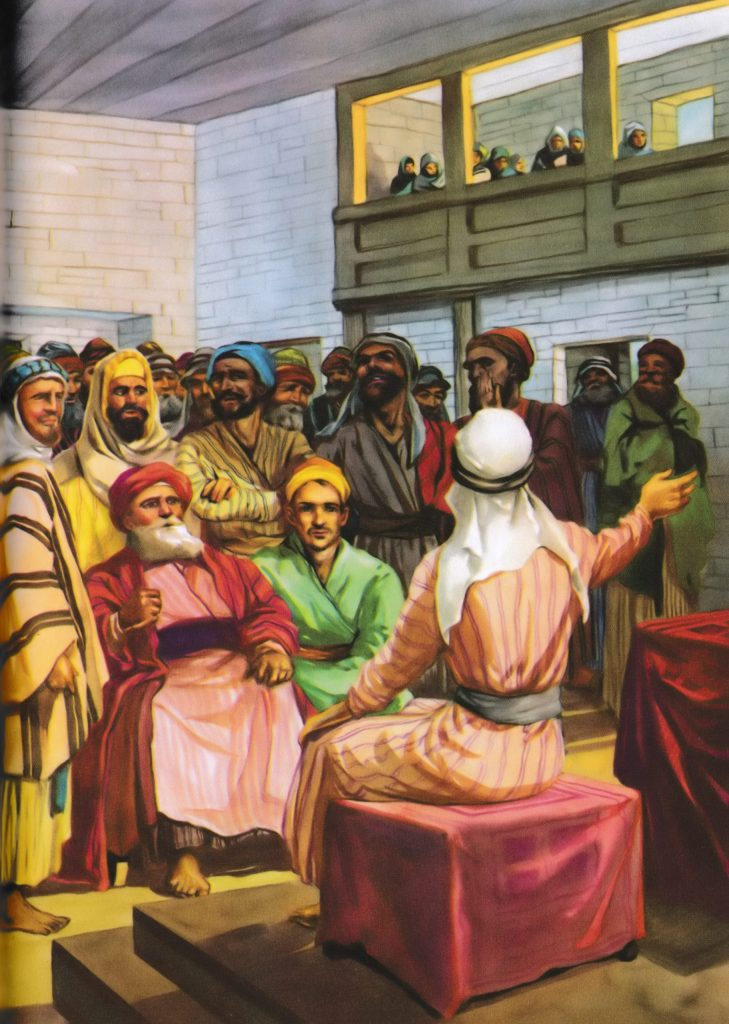 Jesus tells them Isaiah was fulfilled (Luke 4:20-22)