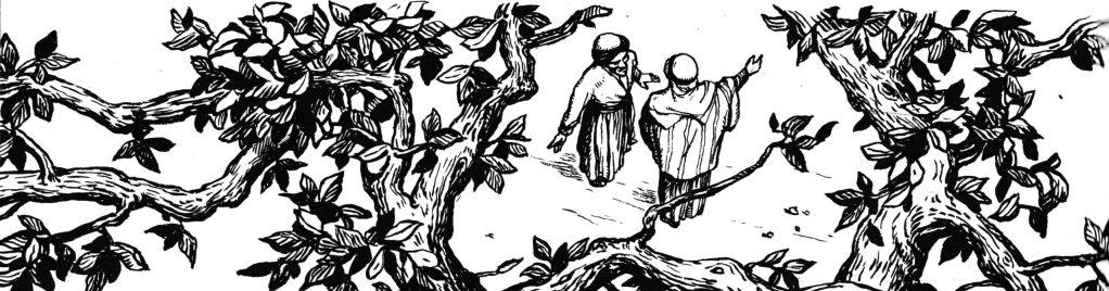 Zaccheus in a tree (Luke 19:4-5)