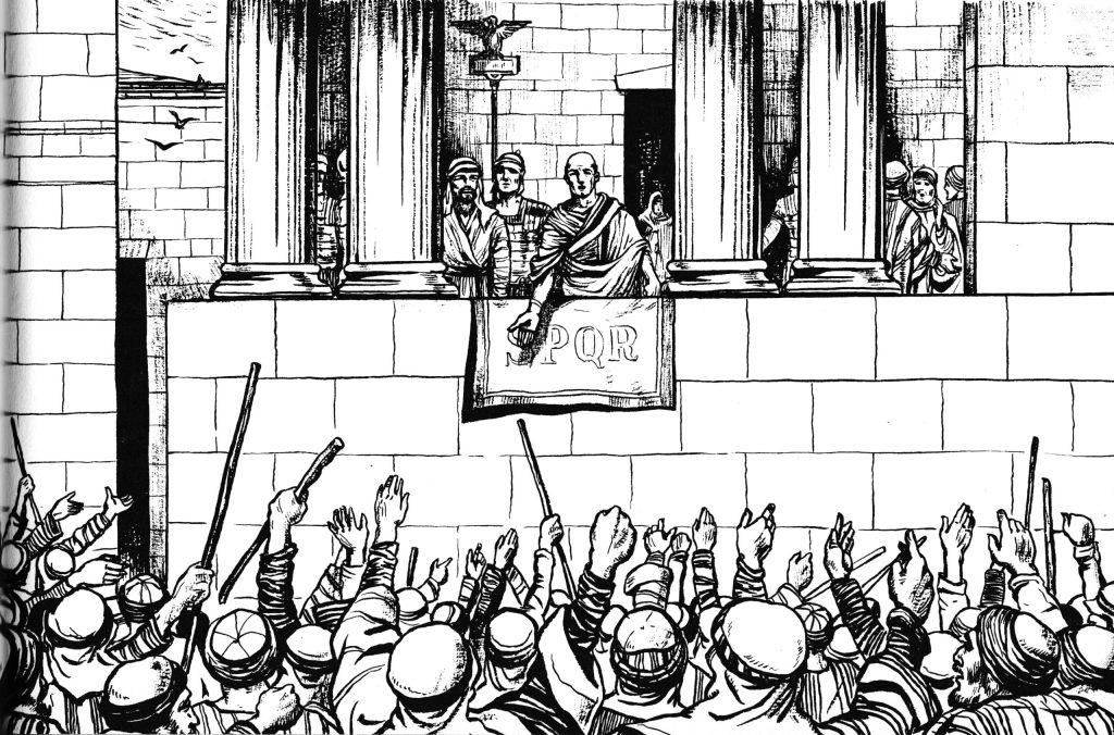 Pilate offers to release Jesus (Matthew 27:20-23)