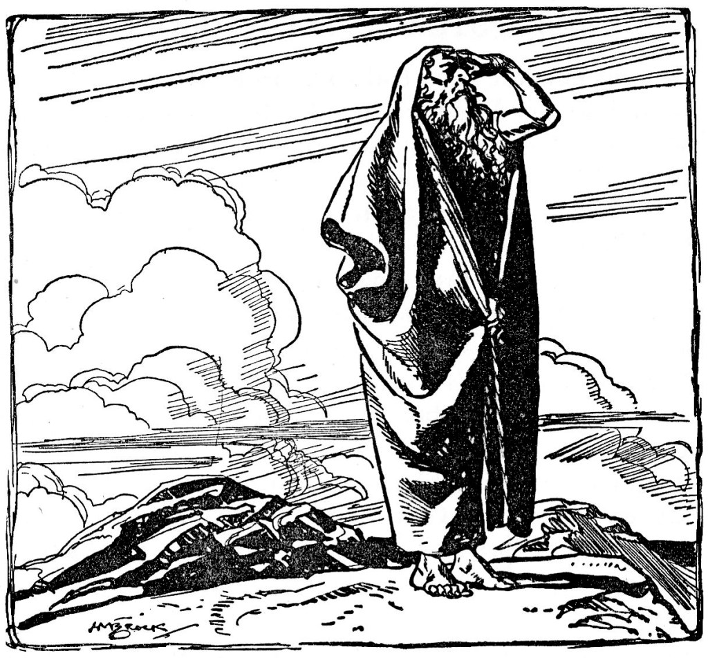 Moses sees Canaan from Mount Pisgah (Deuteronomy 34:1)
