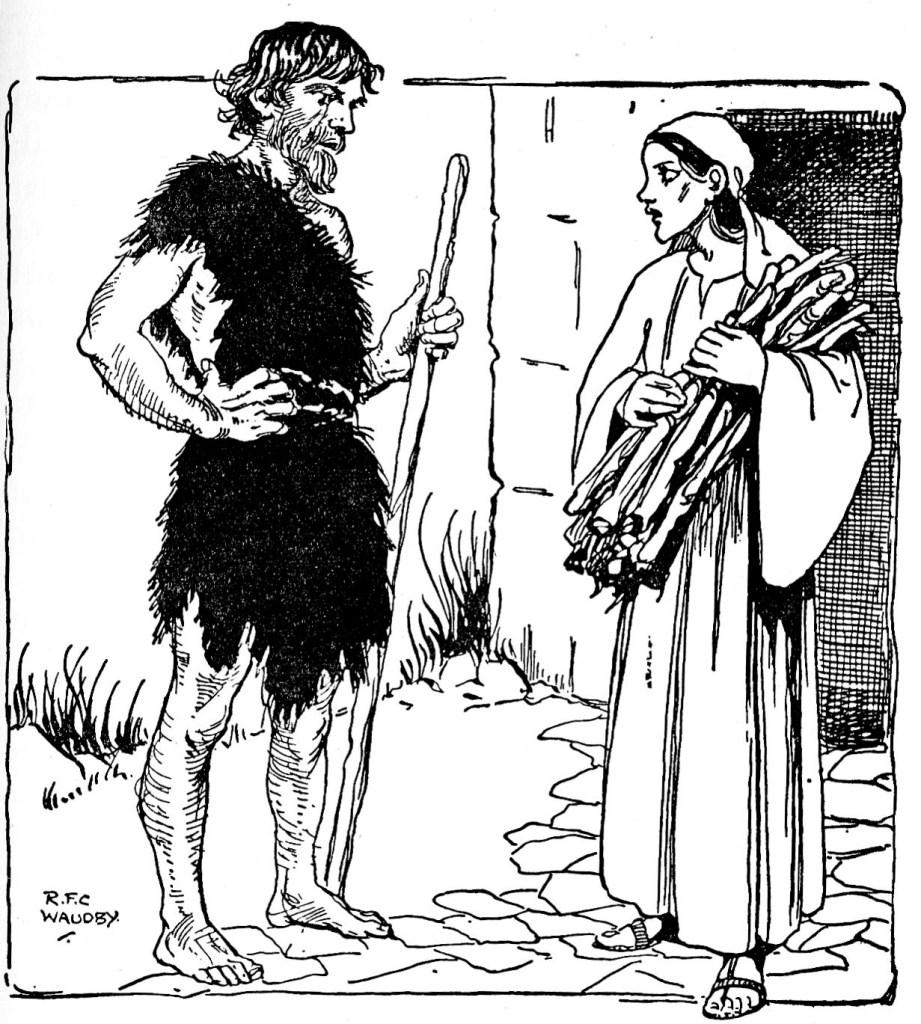 Elijah meets a widow gathering sticks (I Kings 17:10)