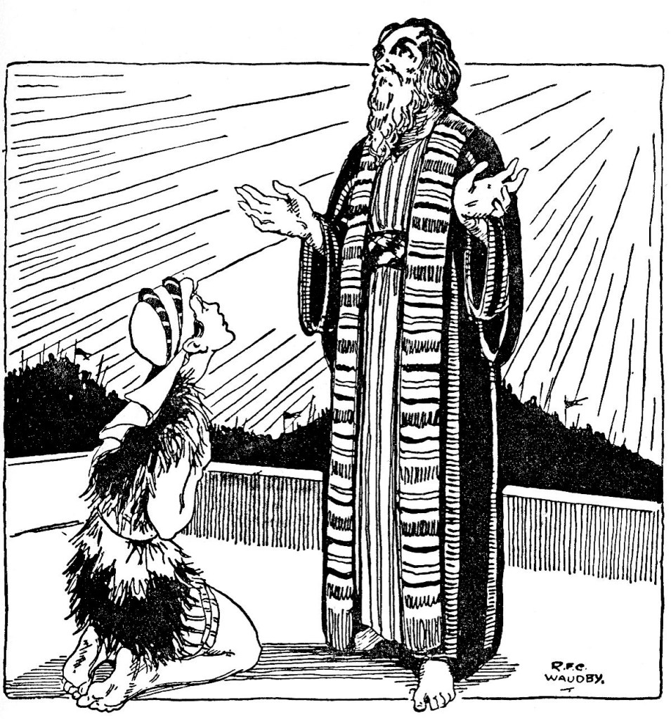 Elisha shows a young man the host of heaven (II Kings 6:17)