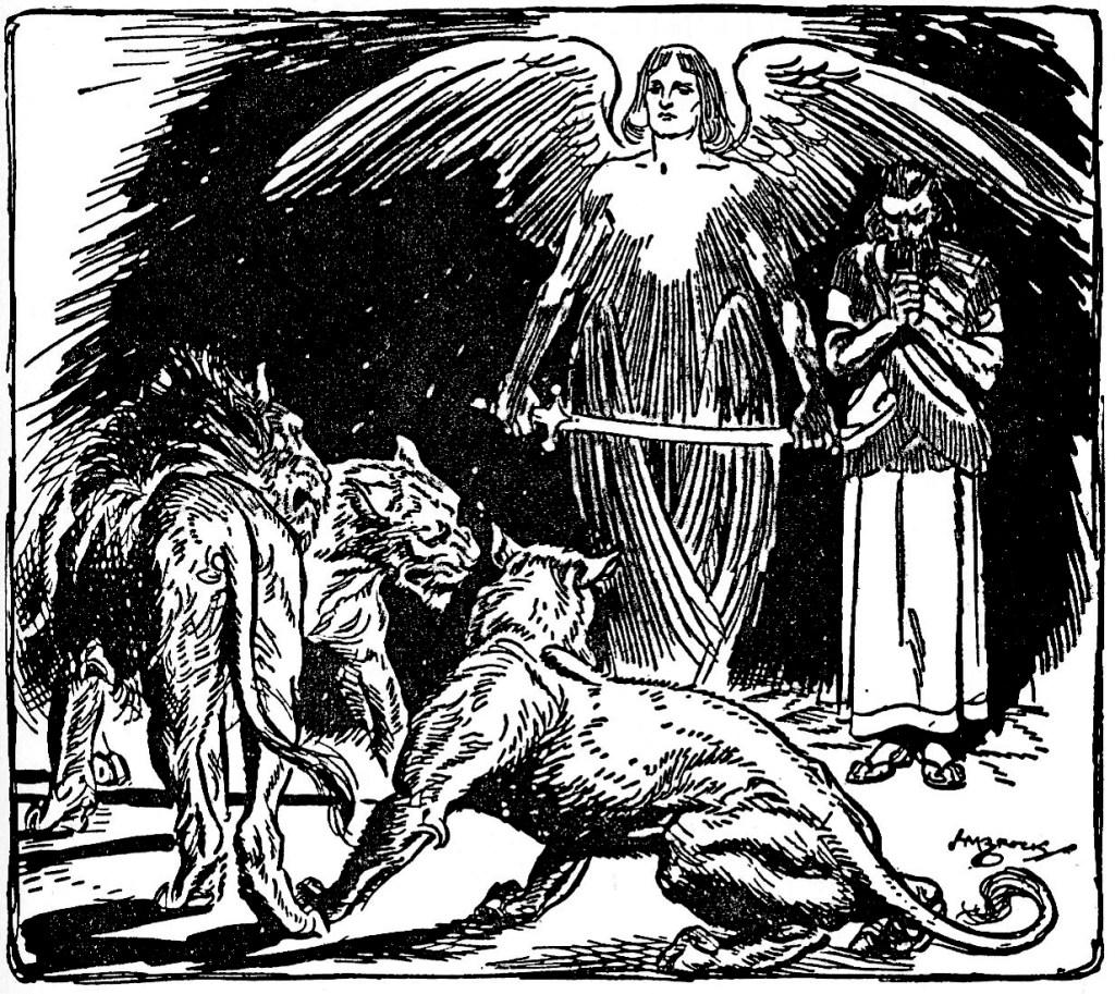 An angel kept the lions from Daniel (Daniel 6:22)