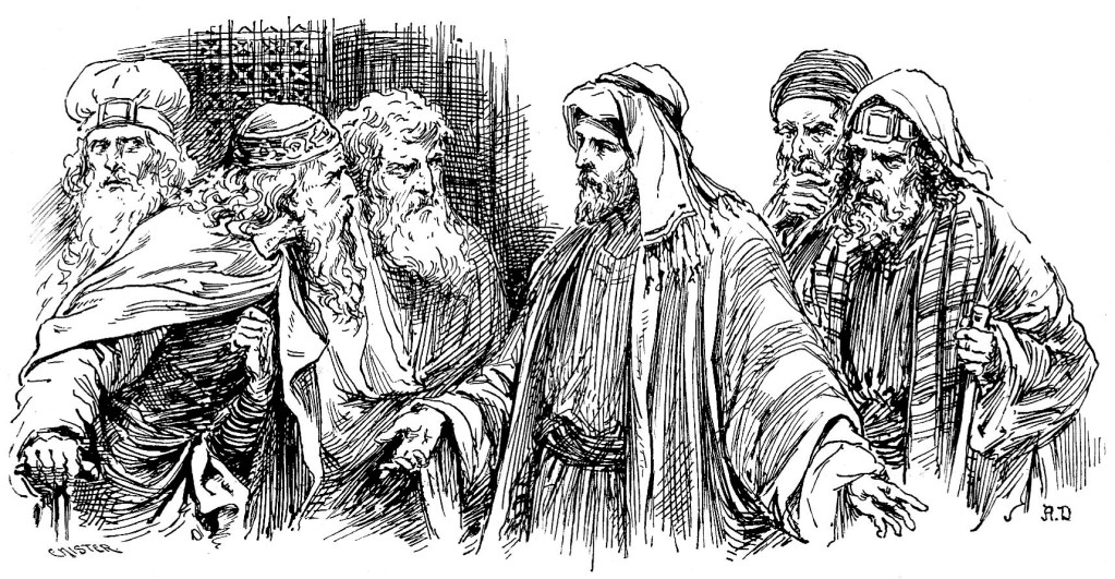 The Jewish leaders watch Jesus closely - Mark 3:2