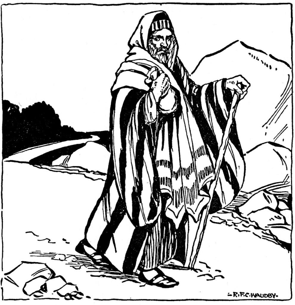 A priest passes up an injured man (Luke 10:31)