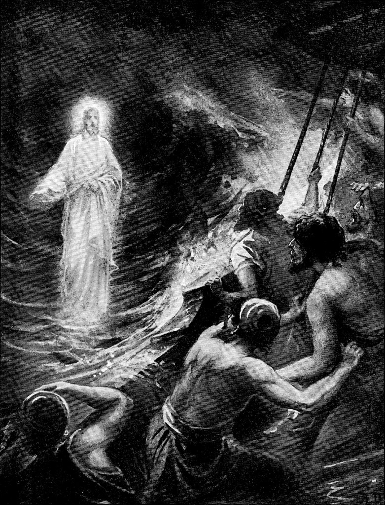 Jesus walks on water - Matthew 14:25-26