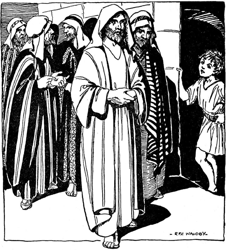 Jesus walking through Jerusalem (John 12:20-22)